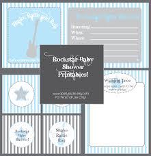 rock n u0027 roll rock star baby shower free printables baby