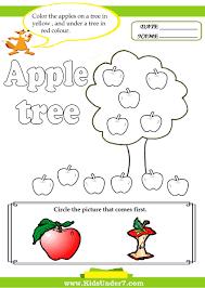 kids under 7 letter a worksheets
