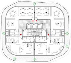 Floor Plan Of The Office Towers With Green Walls At Gardens Of Anfa By Maison Edouard