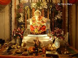 Temple Decoration Ideas For Home My Yatra Diary Festive Colors Of Ganesh Chaturthi Ganpati