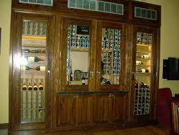 Walnut Wine Cabinet Refrigerated Wine Cabinets And Wine Rack Furniture
