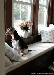 window bench for dog diy window seat cushion christinas adventures