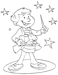 magic trick coloring pages coloring