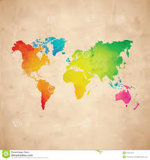 vector world map stock photo image 41054518