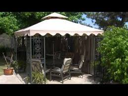 Replacement Awnings For Gazebos Replacement Canopy For Walmart Dc America Gazebo Youtube