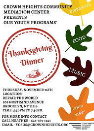 youth thanksgiving dinner crown heights mediation center