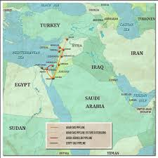 Map Of Persian Gulf Oil And Gas Pipelines In The Middle East Exclusive
