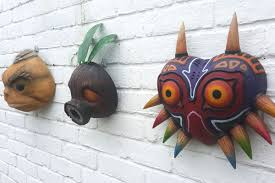 these gorgeous legend of zelda masks are home decor for the super