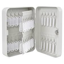 Key Storage Cabinet Metal Safe 48 Hook Key Box W Tag Home Car Lock Storage
