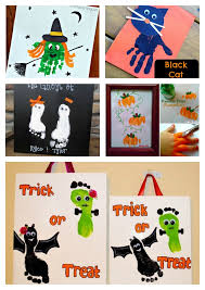 kids halloween images 10 kids halloween handprint and footprint ideas beesdiy com