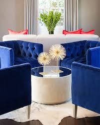 Blue Chairs For Living Room Royal Blue Chairs Contemporary Living Room Martha O Hara