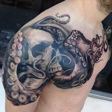 octopus tattoo octopus skull tattoo by carlos torres tattoo
