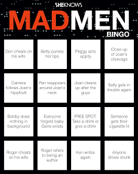 this mad men bingo game is the most fun you u0027ll ever have drinking