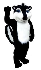 mascot costumes for halloween buy skunk mascot costume t0111 mask us from costume shop com