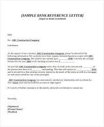 bank reference letter sample 7 bank reference letter templates