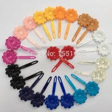 hair barrettes 8pairs pk plastic sunflower barrettes hair solid color hair