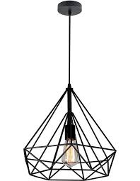 Black Pendant Light Cervo Black Cage Pendant Light Medium Chic Chandeliers