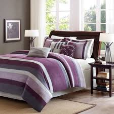 Plum Bed Set Park Boulder Stripe 7 California King Comforte