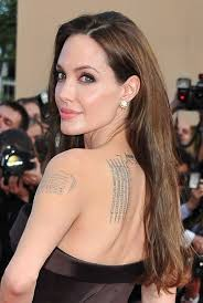 hair parting angelina jolie long hairstyle straight hair with long side part