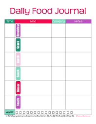printable meal planner with calorie counter printable food journal for calorie tracking food journal calorie