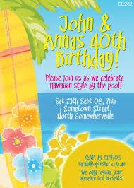 se282 hawaiian invitation ladies birthday invitations