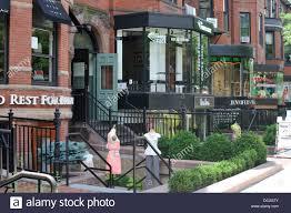 shops and cafes along newbury back bay boston