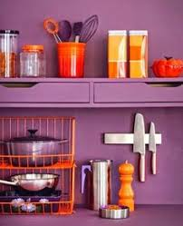 eggplant purple kitchen cabinets stainless steel modern