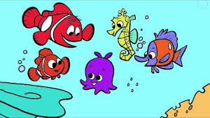 finding nemo coloring page 4 little hands coloring book youtube