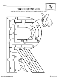 letter r tracing and writing printable worksheet