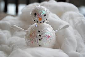 Old Christmas Cards Crafts - recycled christmas card craft and simple polystyrene ball snowmen