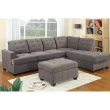 Charcoal Sectional Sofa 3pc Modern Grey Charcoal Sectional Sofa Couch With Chaise And