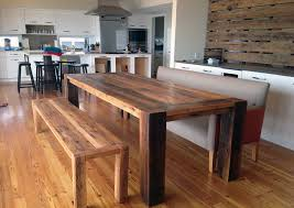 Large Kitchen Tables With Benches Bench Reclaimed Wood Table And Bench Incredbile Reclaimed Wood