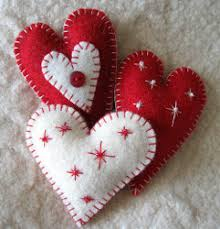felt ornaments heart felt ornaments tutorial favecrafts