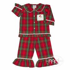 s pajamas three smocked santa loungewear
