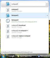 Windows Search Box - how to install google quick search box