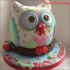 owl baby shower cake cake by truly scrummy cakesdecor