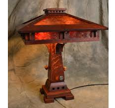 Oak Table Lamp Mica Table Lamps Mission Arts And Crafts Style Lamp Tables