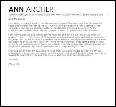 gorgeous inspiration secretary cover letter 10 best legal examples