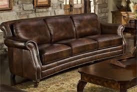 Leather Sofa Brown Dark Leather Sofa Centerfieldbar Com