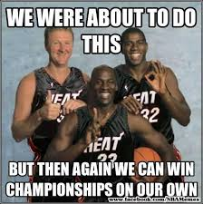 Magic Johnson Meme - miami heat jokes michael jordan larry bird and magic johnson