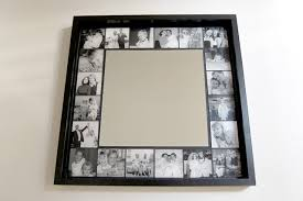 square wood wall decor decorations simple mirror frame design alongside black solid