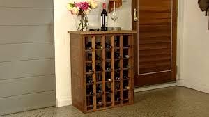 ergonomic diy wine cabinet 19 diy hanging wine rack plans 6016