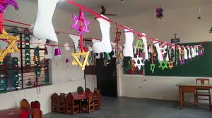 christmas decoration in class lkg c youtube