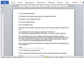 work for hire contract template for microsoft word