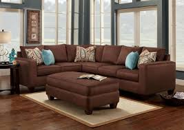 ideas chic living room color schemes brown leather couch living