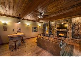Ceiling Light Crown Molding by Rustic Great Room With Ceiling Fan U0026 Crown Molding In Truckee Ca