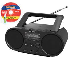 Sony Kitchen Radio Under Cabinet Sony Portable Full Range Stereo Boombox Sound System With Mp3 Cd