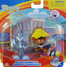 the bugs bunny and tweety show amazon com the looney tunes show figures bugs bunny and speedy
