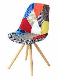 fauteuil de bureau original chaise en tissu patchwork lot de 2