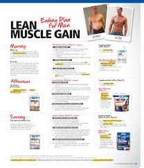 sample diet plan for lean muscle gain salegoods pinterest